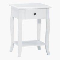 Table de nuit LONE 1 tiroir blanc