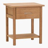 Bedside table OLSKER 1 drawer oak