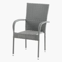 Chaise empilable GUDHJEM gris