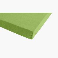 Lenzuolo in jersey 180x200x30cm verde