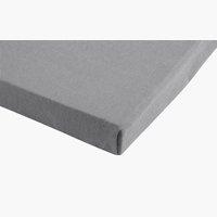 Jersey-Spannbettlaken 150x200x30 zement