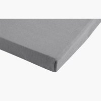 Lenzuolo in Jersey 150x200x30cm grigio