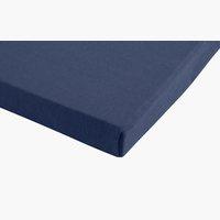 Jersey-Spannbettlaken 100x200x28 blau