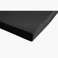Jersey-Spannbettlaken 180x200x30 schwarz