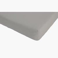 Jersey-Spannleichtuch 140/160x200 zement