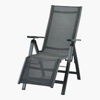 Chaise relax LAS VEGAS gris foncé