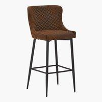 Chaise de bar PEBRINGE brun