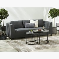 Lounge ODDE 3 pers. gris f. 4 saisons