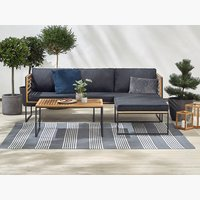 Loungeset UGILT m/chaise 3-persoons hout