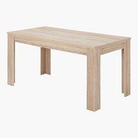 Table HALLUND 80x160 chêne