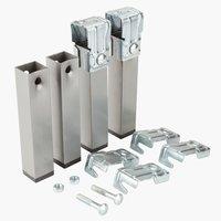 Pieds de lit l3xH15xP4cm métal lot de 6