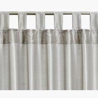 Gordijn LUPIN 1x140x300 zijdelook zilver