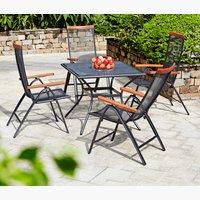 LARVIK L88 table gris + chaise rég. gris
