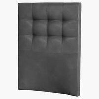 Hoofdbord 90x125 H50 gestikt zwart-01