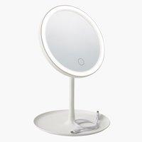 LED spejl VEDUM Ø18xH28cm hvid