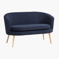 Sofa GISTRUP 2-Sitzer dunkelblau