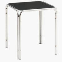 End table SHINE 40x40 grey/chrome