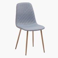 Krzesło JONSTRUP jasnoniebieski/dąb