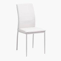 Krzesło TRUSTRUP biały/jasnopiaskowy