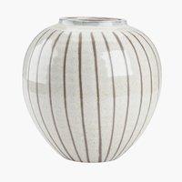 Vase SOFUS D21xH21cm white/brown