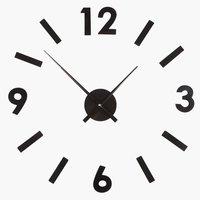 Ρολόι τοίχου VERNER αυτοκόλλ.αριθμ.μαύρο