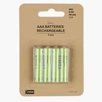 Batterij EIMILL oplaadbaar AAA 4st/pk