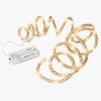 Lichterkette FLINTSTEN m/40 LED gold