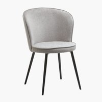 Dining chair RISSKOV light grey/black