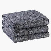 Spejdertæppe HESTEHOV 100x150 grå