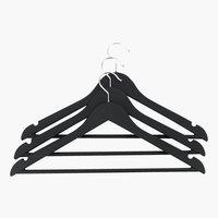 Kleiderbügel ABSALON 3Stk/Pck schwarz