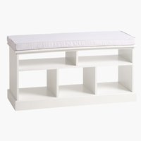 Sitzbank DINA m/5 Böden/Polster weiss