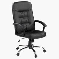 Chaise bureau SKODSBORG look cuir noir