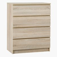 4-drawer chest LIMFJORDEN oak