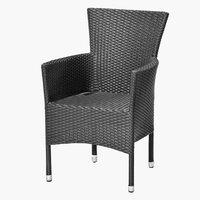 Pinottava tuoli BORK musta