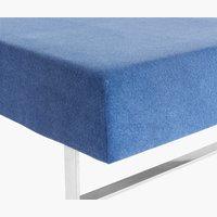 Stretchfrottélakan 160×200×40cm blå