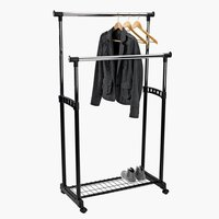 Clothes rail GUDME double black/chrome