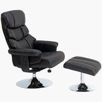 Fotelja + tabure HASSELAGER crna