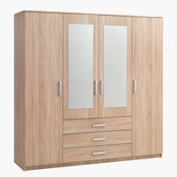 Wardrobe VINDERUP 200x200 combi oak