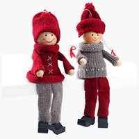 Elfo natalizio H10cm 2pz./pacco