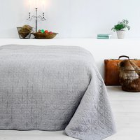 Bed throw HIRSHOLM 220x240 cm grey