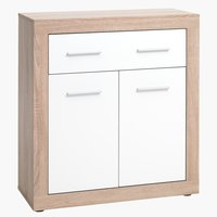 1 drw 2 door chest FAVRBO oak/white
