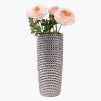 Vase URBAN D13xH31cm silver