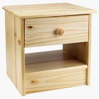 Noční stolek SELLING 1 zásuvka borovice