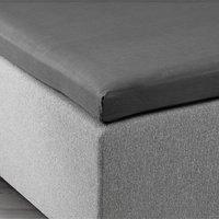 Kuvertlakan grå 90x200x6-10cm