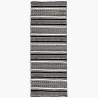 Tæppe STORBORRE 80x200 sort/hvid