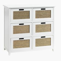 6-drawer chest BJERRINGBRO natural/white