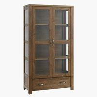 Display cabinet JUNGEN 2 door 1 drw oak