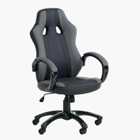Gaming chair AGGESTRUP grey/black