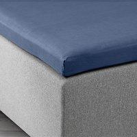 Kuvertlakan 90x200x6-10cm blå