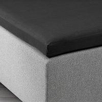 Kuvertlakan 120x200x6-10cm svart